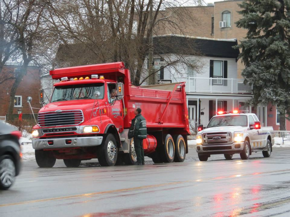 Camions Lourds Rue Notre Dame